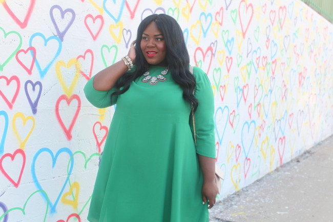 Musings of a Curvy Lady, Plus Size Fashion, Fashion Blogger, Plus Size Fashion Blogger, Kelly Green, Fall Fashion, Women's Fashion, #MCBeautyRoadShow, #YouGotItRight #StyleWatchMag, Statement Necklace, Mint and Lolly, Los Angeles
