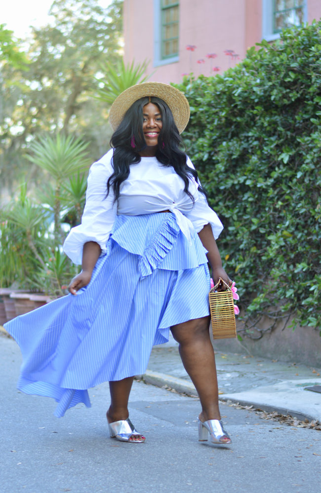 Musings of a Curvy Lady, Plus Size Fashion, Fashion Blogger, Style Blogger, Curvy Style, Ruffles, Summer Fashion, Spring Outfit, Florida, Resort Wear, Fame & Partners, Cult Gaia, Women's Fashion