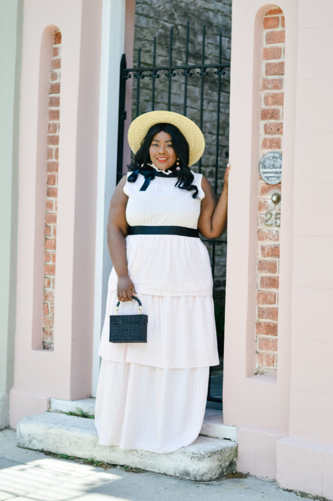Musings of a Curvy Lady, Plus Size Fashion, Forever 21, Tiered Ruffle Dress, Straw Hat, Lack of Colors, Charleston, South Carolina, Spring Fashion