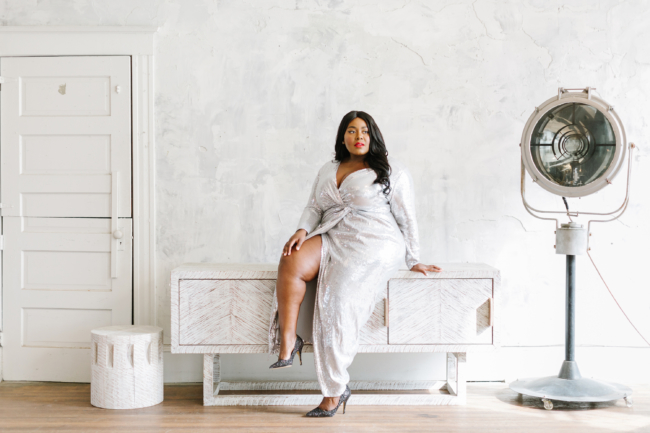 Musings of a Curvy Lady, Jason Wu X Eloquii, Jason Wu, Eloquii, Plus Size Fashion, Holiday Outfit Ideas, Women's Fashion, Special Occasion Dress, Sequin Gown, Old Hollywood Glamour, Glamour, Hollywood, Timeless Fashion, Michelle Obama