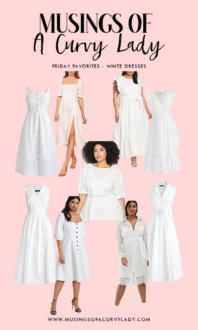 white dress, favorite white dress, best white dresses, lacy dress, eyelet dress, button down dress, wrap dress