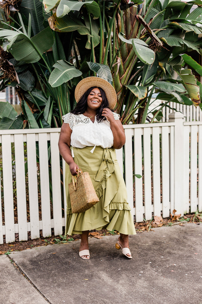 Anthropologie Maeve Ruffle Maxi Skirt