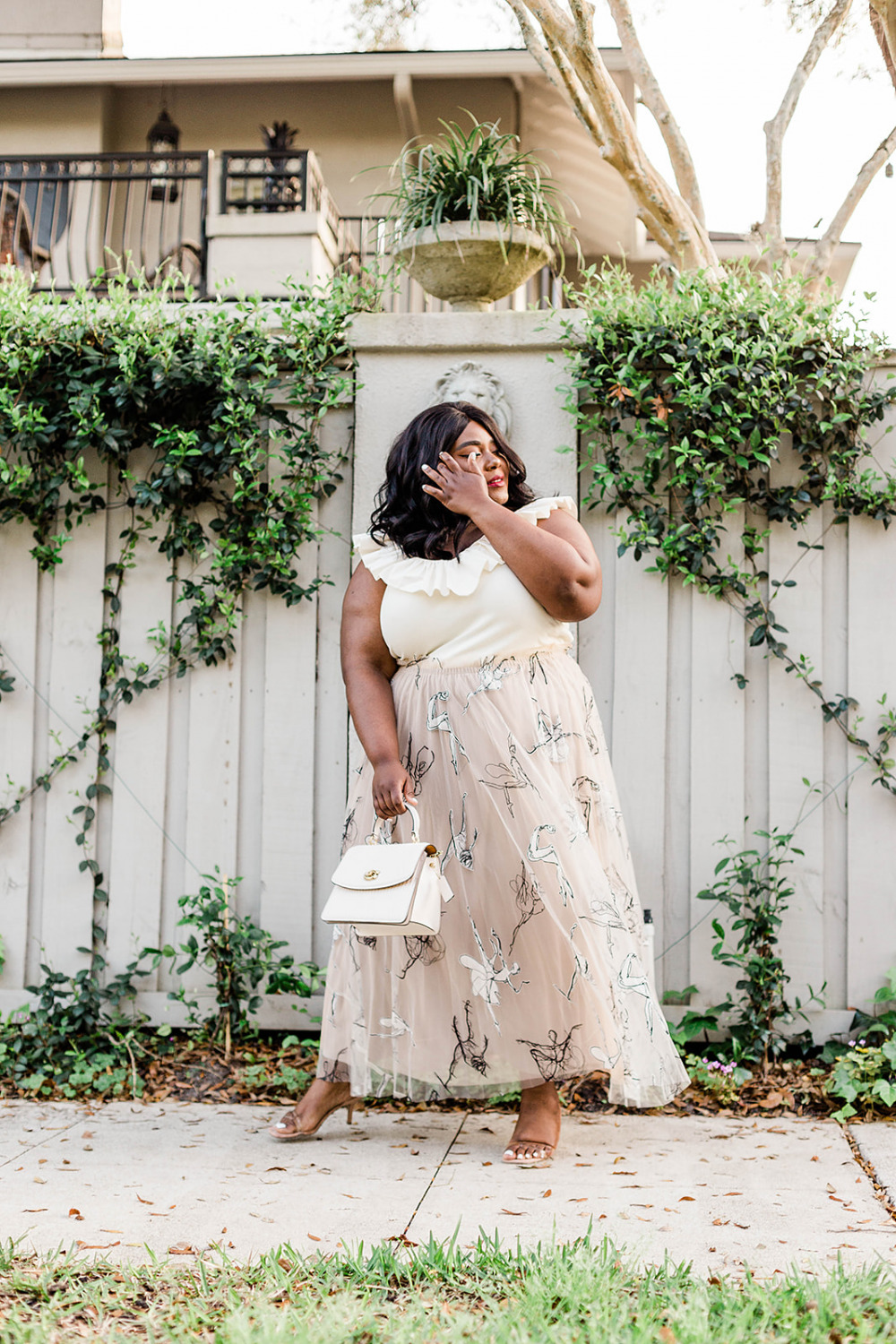 Anthropologie Maeve Ruffled Tina Shirt Georgette Tulle Maxi Skirt