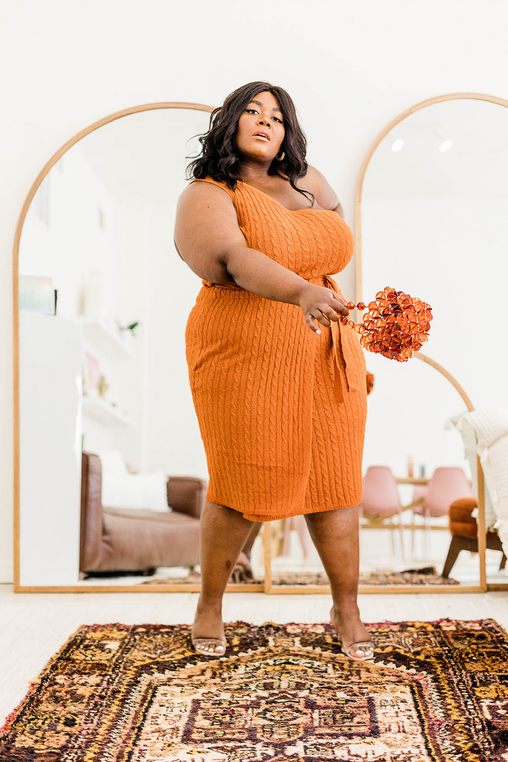 Anthropologie Ribbed Knit Skirt Set, Anthropologie Plus, Matching Set for Summer , Plus Size Fashion, Plus Size Matching Set, Plus Size Summer Outfit Ideas, Urban Outfitters, Tabitha Arc Mirror, Boho Home Style, Boho Home Decor