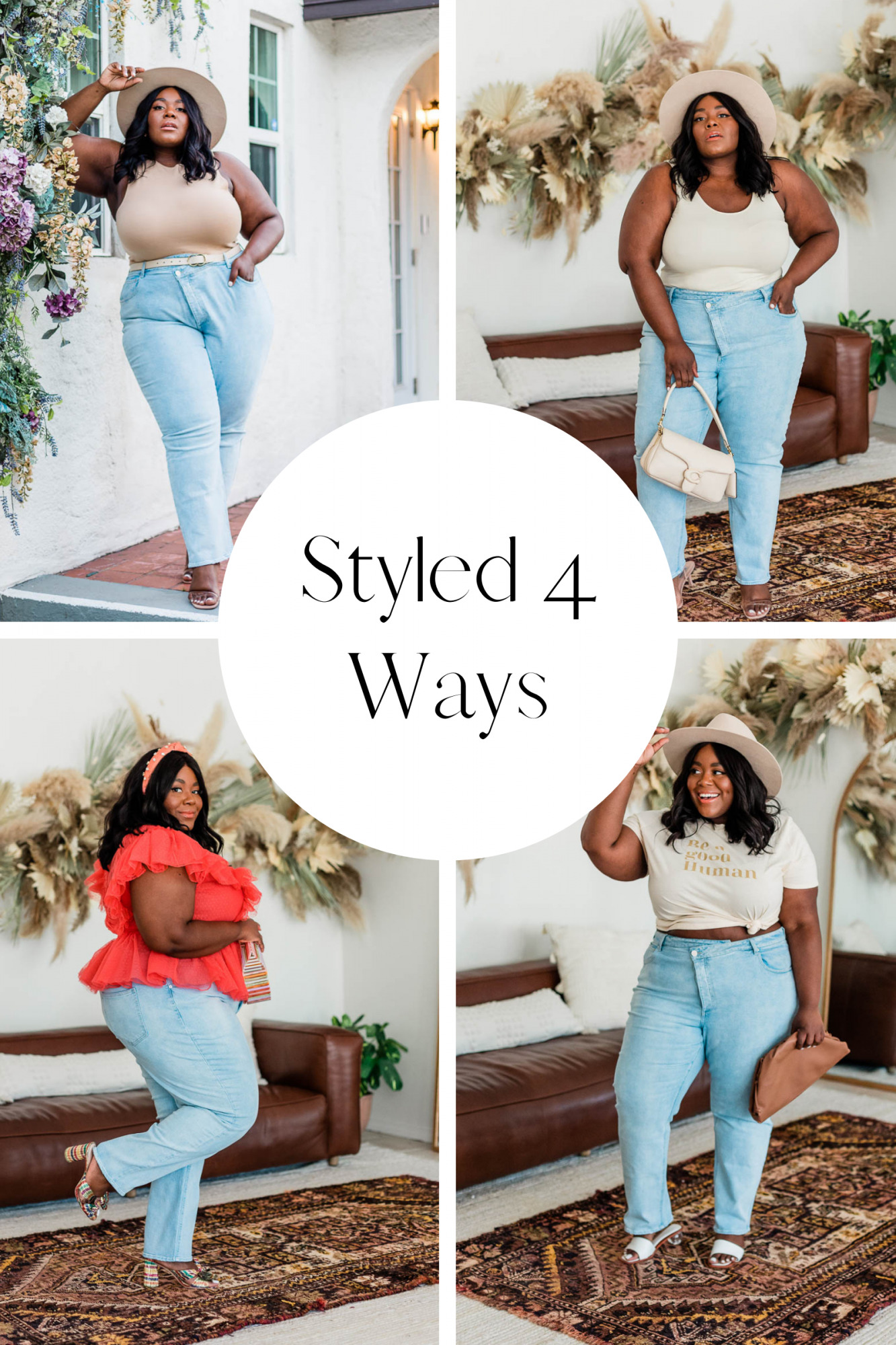 Anthropologie, Walmart, Plus Size Straight Leg Jeans, Forever 21, Plus Size Jeans, Styled 4 Ways